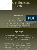 Rules of Business 1996