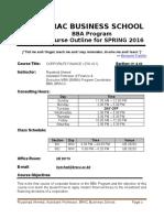 Course Outline FIN 421 BRAC University_BBA