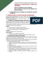 Tema 5 (La documentación jurídica en la constitución y puesta en marcha de una empresa)