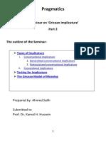Pragmatics(Gricean implicature) part2