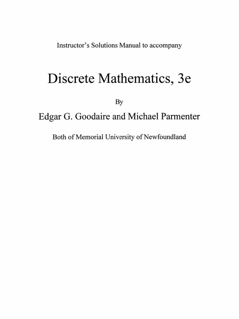 instructor solution manual for discrete mathematics and its applications