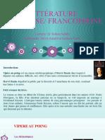 Expose LITT FRANCAISE,FRANCOPHONE par Hadassa et Shriya