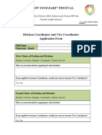 Coor and Vice Coor Application Form