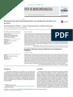 Atelectasia Resolución de atelectasia obstructiva con ventilación mecánica