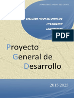 Proyecto General de Desarrollo Ing Industrial Andina Cusco Pgd-Ing-Industrial