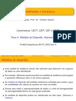 Capitulo 3 Parte I_Medidas Dispersao ISUTC 2019