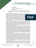 Decreto 107-19 Estructura Consejería de Fomento, Infraestructuras y Ordenación del Territorio
