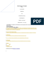 Office Manager CV Template