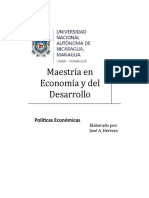 ensayo políticas económicas (políticas fiscales)