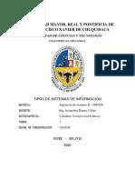 Pr. 1 - Tipos de sistemas de información