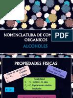 NOMENCLATURA DE COMPUESTOS ORGANICOS-ALCOHOLES