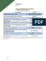 Calendario Preinscripción y Matrícula Ull Curso 2020 -2021