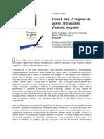 Book Review - Emprise Du Genre - Fr
