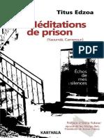 Meditations de Prison- Titus Edzoa