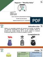 Innovación y Emprendimiento de empresas - Mochilas Relax