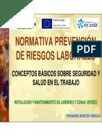 LEGISLACIÓN PREVENCION RIESGOS LABORALES UF19-20-21-22