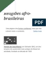 Religiões afro-brasileiras – Wikipédia, a enciclopédia livre