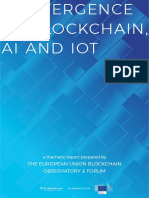 Convergence of Blockchain, AI and IoT