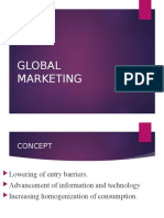 26. GLOBAL MARKETING