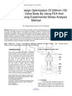 Analysis-And-Design-Optimisation-Of-200mm-150-Class-Globe-Valve-Body-By-Using-FEA-And-Validation-By-Using-Experimental-Stress-Analysis-Method