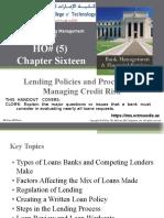 HO#(5) Chap016 Lending Policies and Procedures-Managing Credit Risk
