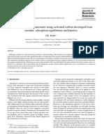 remocion de tinte de aguas de desecho mediante carbon activado obtenido de aserrin