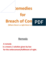 8.Remedies for Breach of Contract PPT