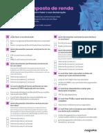 Checklist - Imposto de Renda 2020
