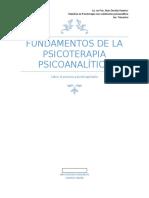 Reporte de lectura - Fundamentos de la psicoterapia psicoanalítica
