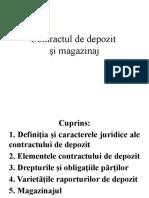 Contractul de depozit