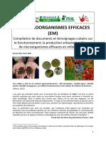 LES MICROORGANISMES EFFICACES (EM)