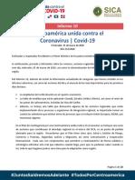Informe 10  - Centroamérica Unida contra el Coronavirus