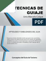 TECNICAS DE GUIAJE