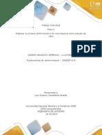 Paso 2  - Elaborar proceso administrativo Andres Mauricio Ceferino