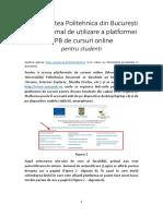 S1-Ghid minimal de accesare si utilizare a platformei UPB de cursuri -studenti