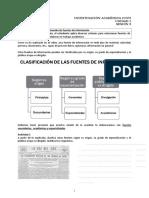 Sesion 5 Clasificación y evaluación de fuentes de informacion