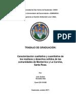 CARACTERIZACIÓN CUALITATIVA Y CUANTITATIVA DE LOS DESECHOS Y RESIDUOS SÓLIDOS DE LAS ALDEAS DE MO