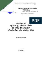 2004 QT PNT 09 Quy trinh quan ly phan tich so lieu thong ke BH PNT