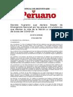 EL PERUANO DECRETO DE URGENCIA