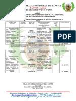 2..- CORRESPONDENCIA DE LAS INVERSIONES ( ANEXO 1)