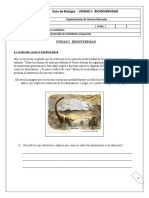 1° MEDIO GUIA N°2 BIOLOGIA - BIODIVERSIDAD