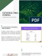 BALANCE GENERAL PRO-FORMA