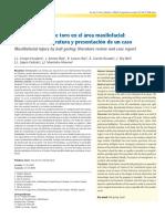 caso3 herida por asta de toro en el área maxilofacial revisión de la literatura y presentación de un caso