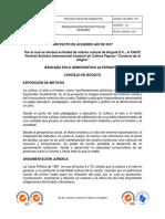 PROYECTO DE ACUERDO CULTURAL