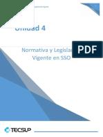 Unidad 4 Normativa y Legislación Vigente