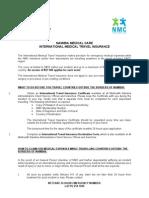 NMC International Medical Travel Insurance