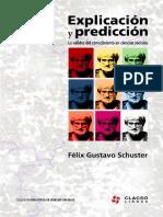 Schuster, F.G.-  Explicación y predicción - (Capítulos 1 a 5)
