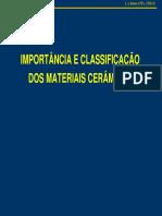 1 importância e classificação dos materiais cerâmicos
