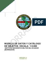 Catálogo de Objetos del IGM - Ecuador, escala 1:5.000