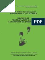 Taller sobre planificacion, administracion y evaluacion modulo IV programacion de las actividades de inmunizacion